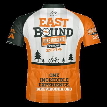2014 Bike Virginia Tour Jersey (BACK)