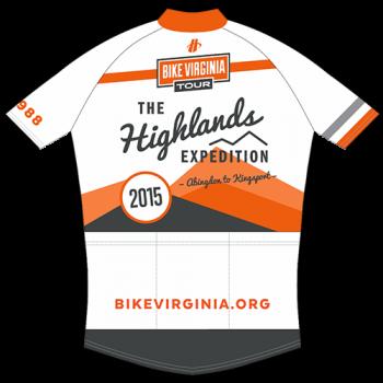 2015 Bike Virginia Tour Jersey (BACK)