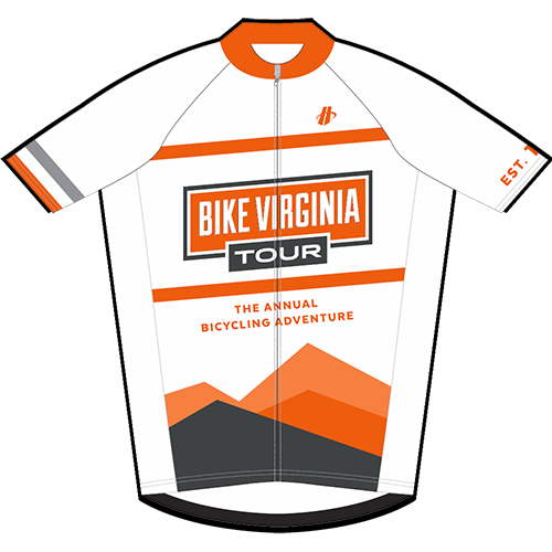 2015 Bike Virginia Tour Jersey (FRONT)