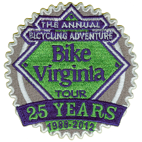 2012 Bike Virginia Tour 25 yrs Patch