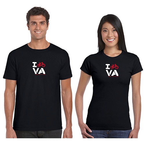 I BIKE VA T-Shirt (MEN'S and WOMEN'S)