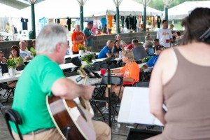 Live music at Bike Virginia event